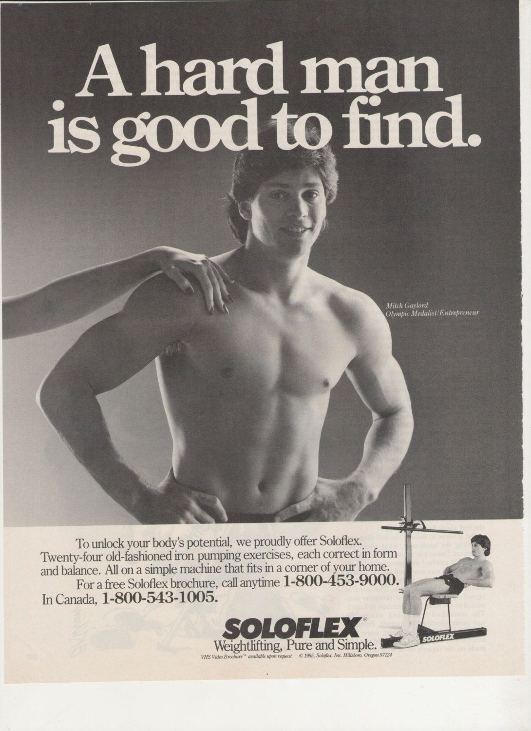 1985 Soloflex Advertisement Home Gym 80s Fitness by fromjanet