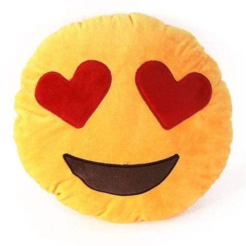 emoji heart shape eyes cushion pillow from efizzle