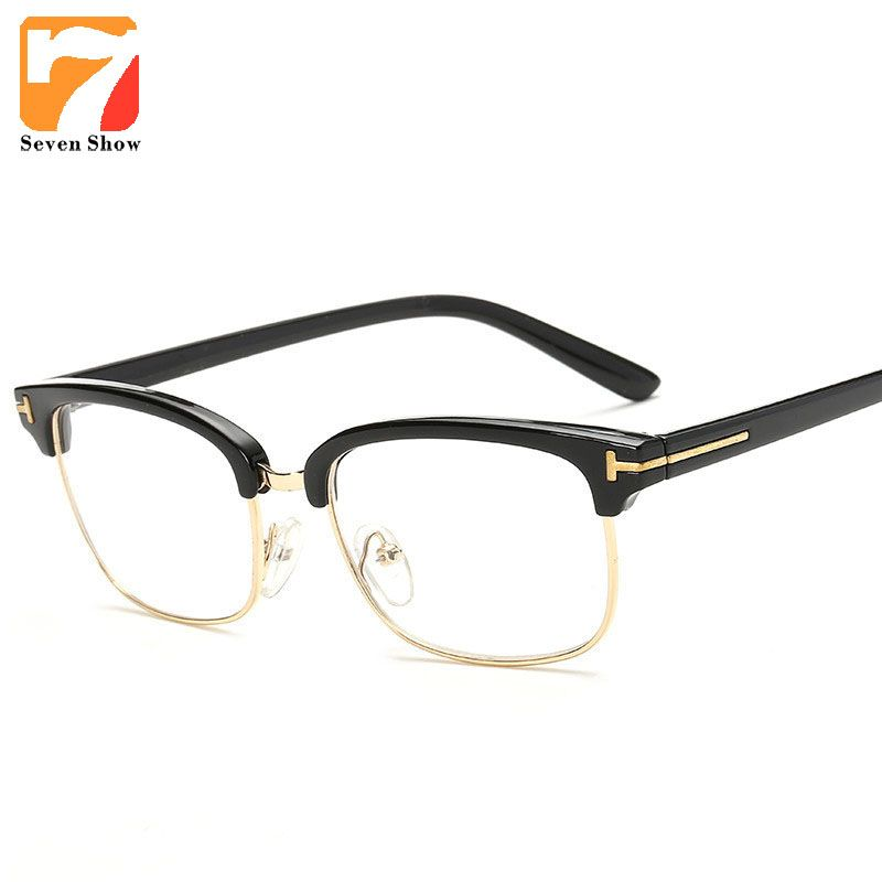 721bf948bd Glasses Retro TF Glasses Frames Men Computer Glasses Eyeglasses Vintage  Women Half Optical Clear Lens Glasses Oculos lunettes