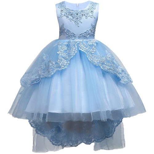 Girls Clothes Pearl Embroidery White Wedding Dress Children ...