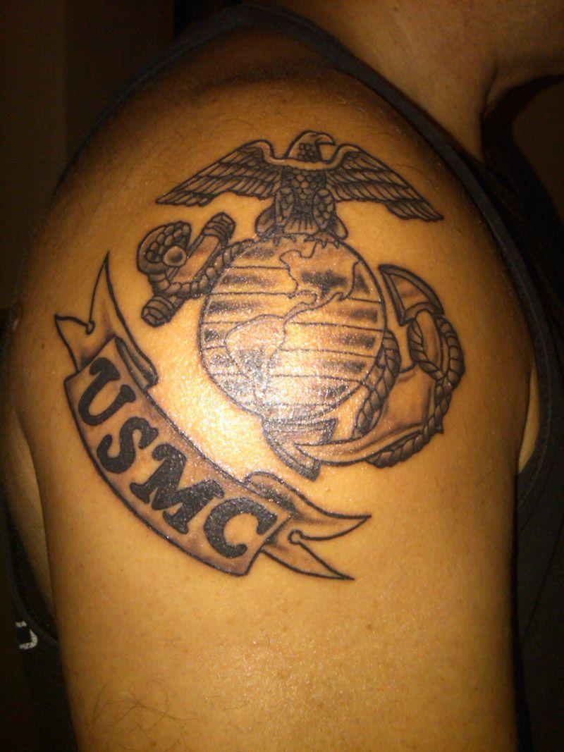 Usmc, arm tattoo on Usmc tattoo, Marine