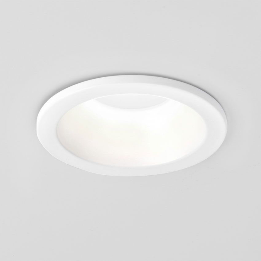 Minima Ip65 Round Bathroom Recessed Downlight In Matt