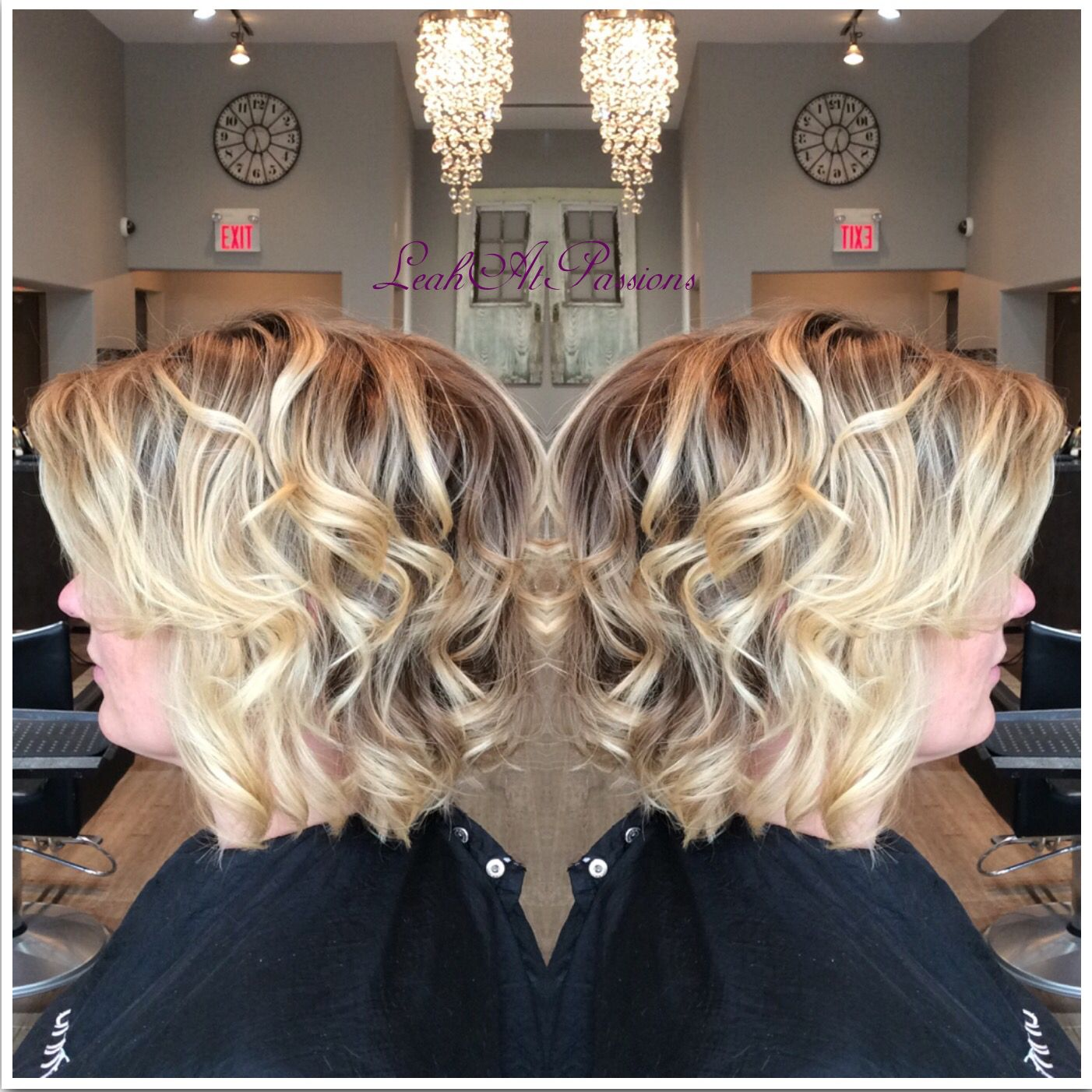 Fantastic ombré, and a fun sassy lob. Hair by @leahatstraightup | Hair, Hair  stylist, Stylists