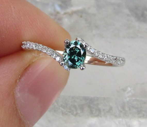 blue diamond engagement ring would love if it was princess cut - Colored Wedding Rings