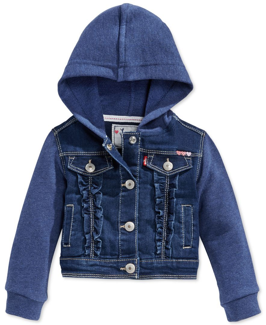 d5330401d85 Levi's Baby Girls' Terry Denim Hooded Jacket | Baby clothes and ...
