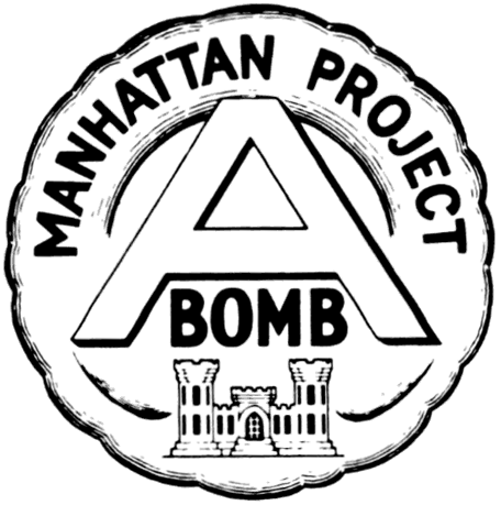 Circular Shaped Emblem With The Words Manhattan Project At The Top