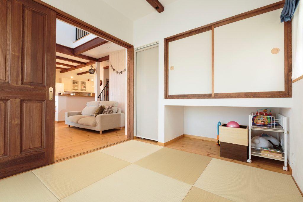 自然素材で叶えた 永く健やかに暮らせる理想の家 和室 タタミ