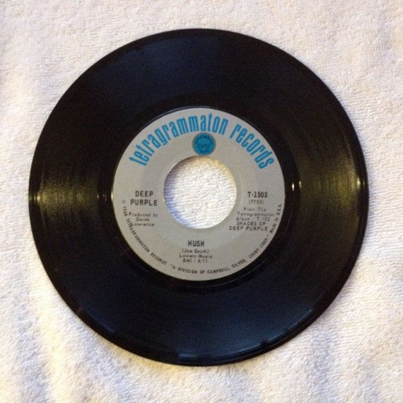 Deep Purple Vinyl Record 45 rpm Hush / One More Rainy Day 1970s