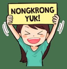 Jomblo Imut By Gangsar In 2020 Funny Stickers Cartoon Jokes Cute Stickers