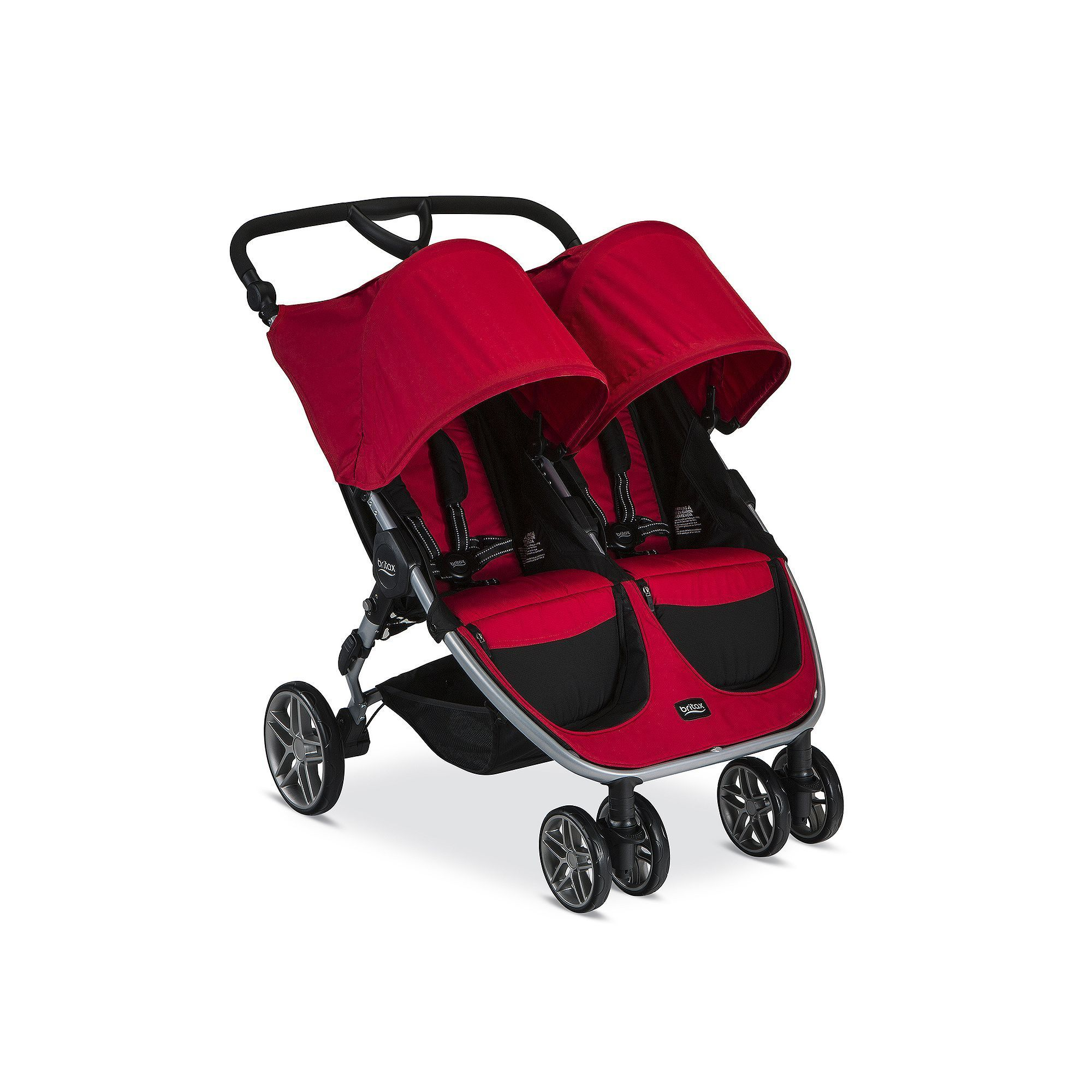 Britax 2017 BAgile Double Stroller, Red Double