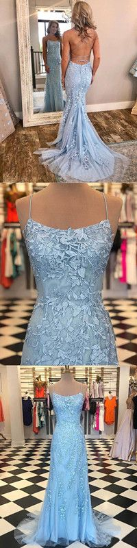96942efcb8 Mermaid Blue Prom Dress Lace African Long Prom Dress  ER420 in 2019 ...