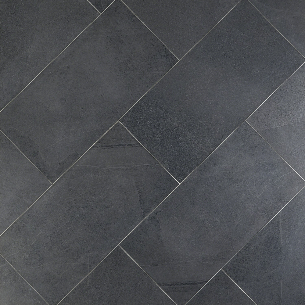 Fordham Nero 12x24 Matte Porcelain Tile In 2020 Tile Floor Tile Bathroom Grey Bathroom Tiles