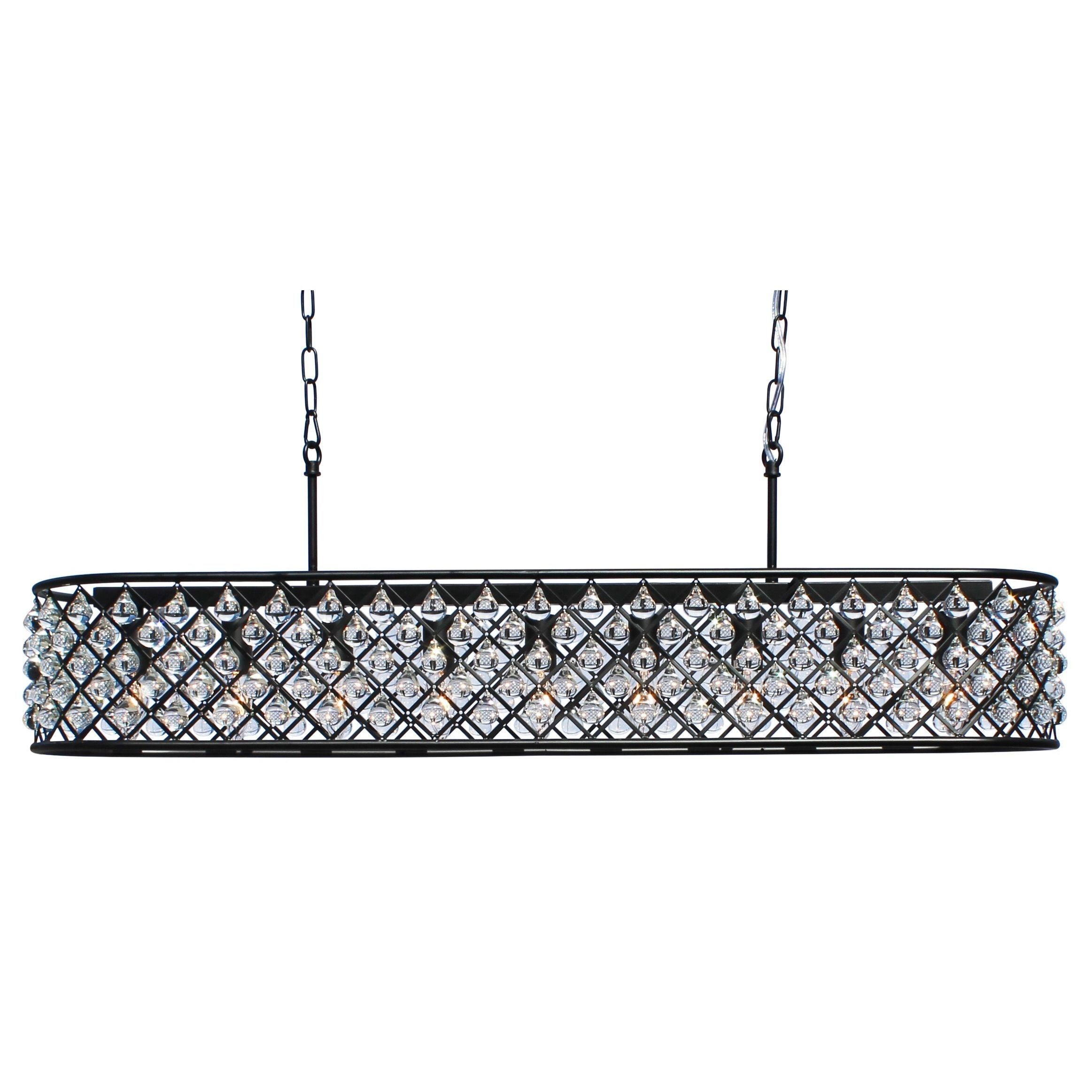 Oil Rubbed Bronze Kitchen Island Lighting This Beautiful Rectangular Crystal Chandelier Will Surely Update