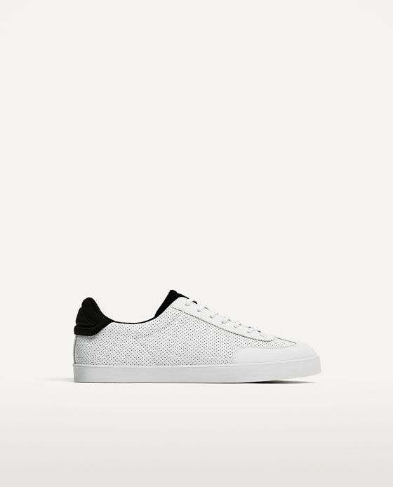 best sneakers 6ea7c dca25 ZARA - MAN - MICRO-PERFORATED SNEAKERS