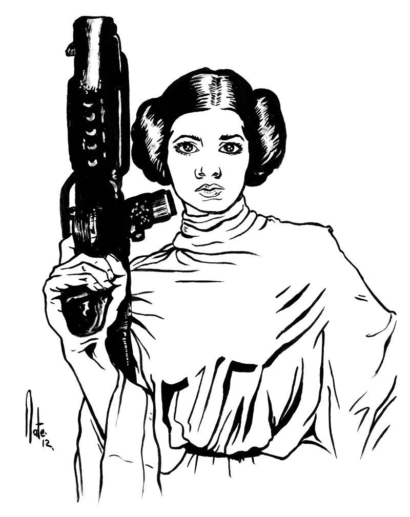 star wars coloring pages leia - photo#26