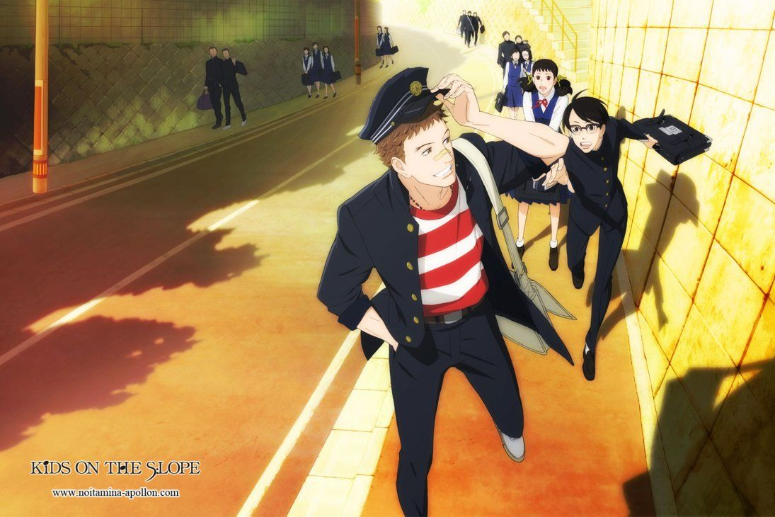 Sakamichi no Apollon: a life at the rhythm of jazz (sentimental and slice of life anime)