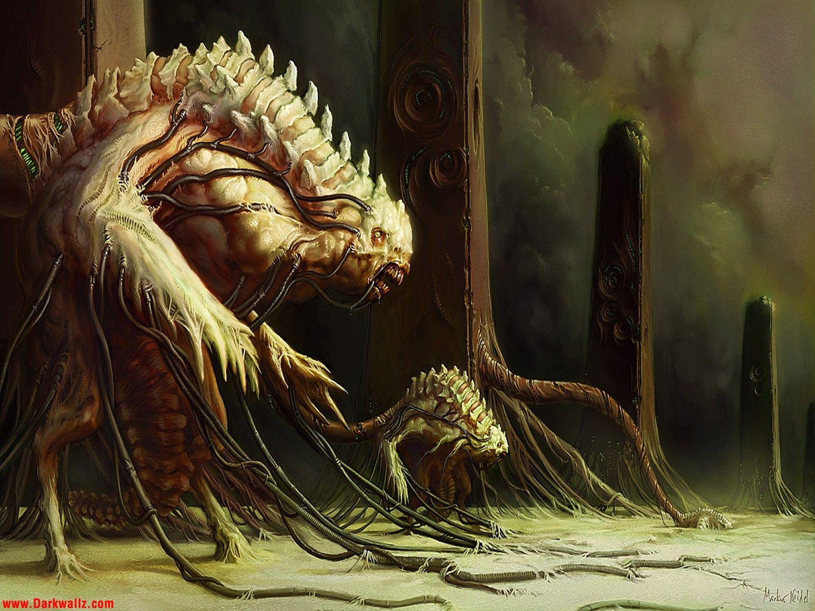 Scary Creepy Monsters Monster Wallpapers 42 Dark Wallpaper