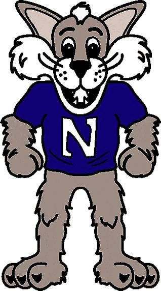 14903fd98ed29 Northwestern Wildcats Mascot logo | Northwestern University Wildcats ...