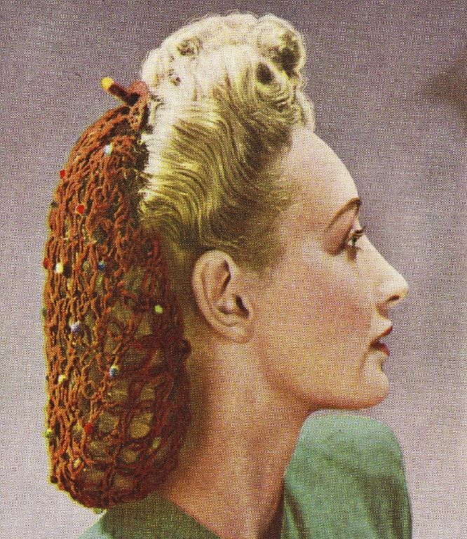 Vintage Snood Patterns Snood Pattern Face And Snood
