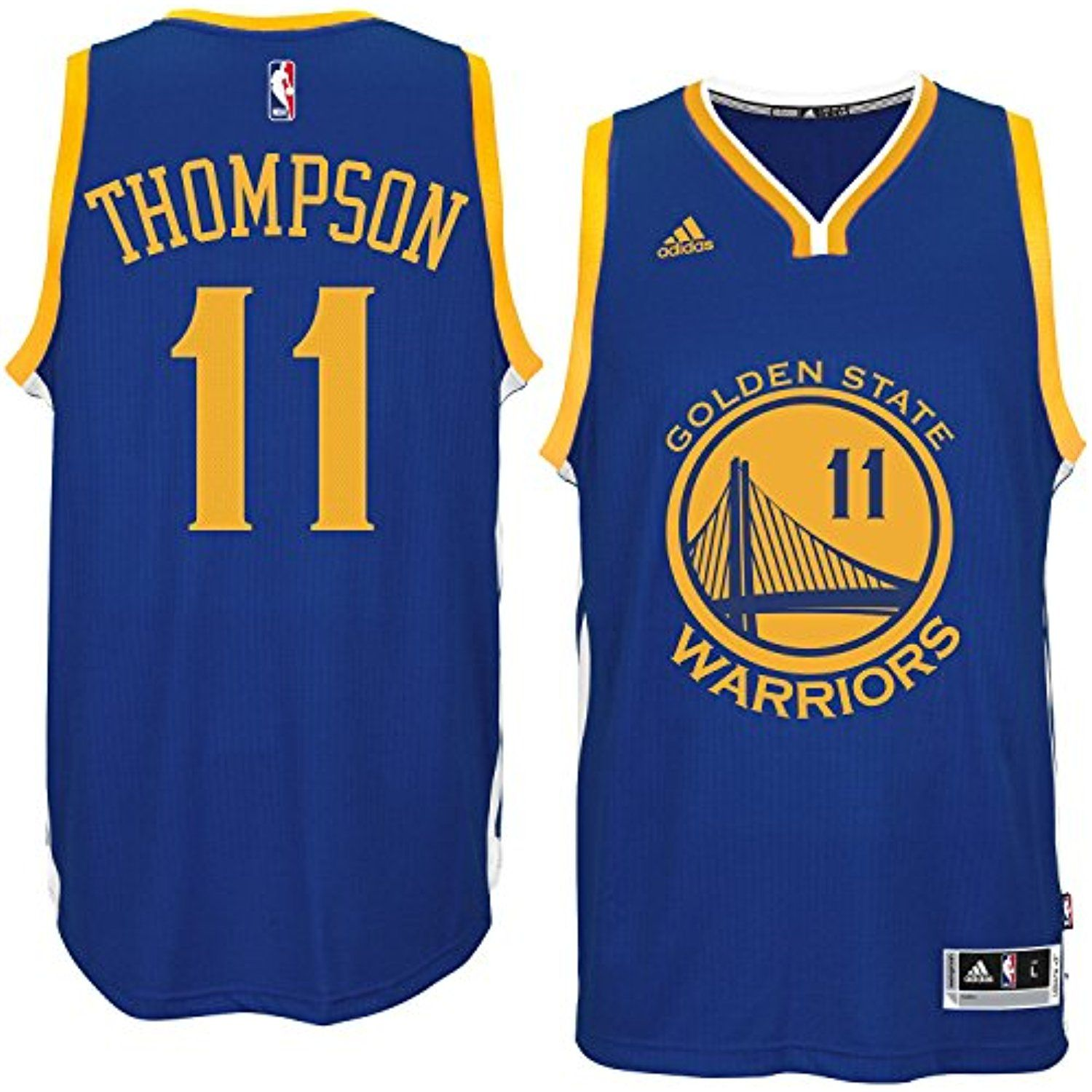 official photos ac341 83982 Klay Thompson Golden State Warriors Blue NBA Youth Road ...