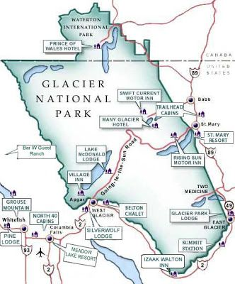 image regarding Printable Map of Glacier National Park named Who would include thing to consider I would will need in the direction of drive toward Montana