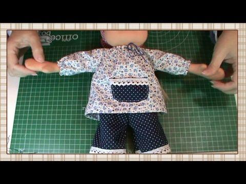 Tutorial muñeca waldorf: Blusa - YouTube