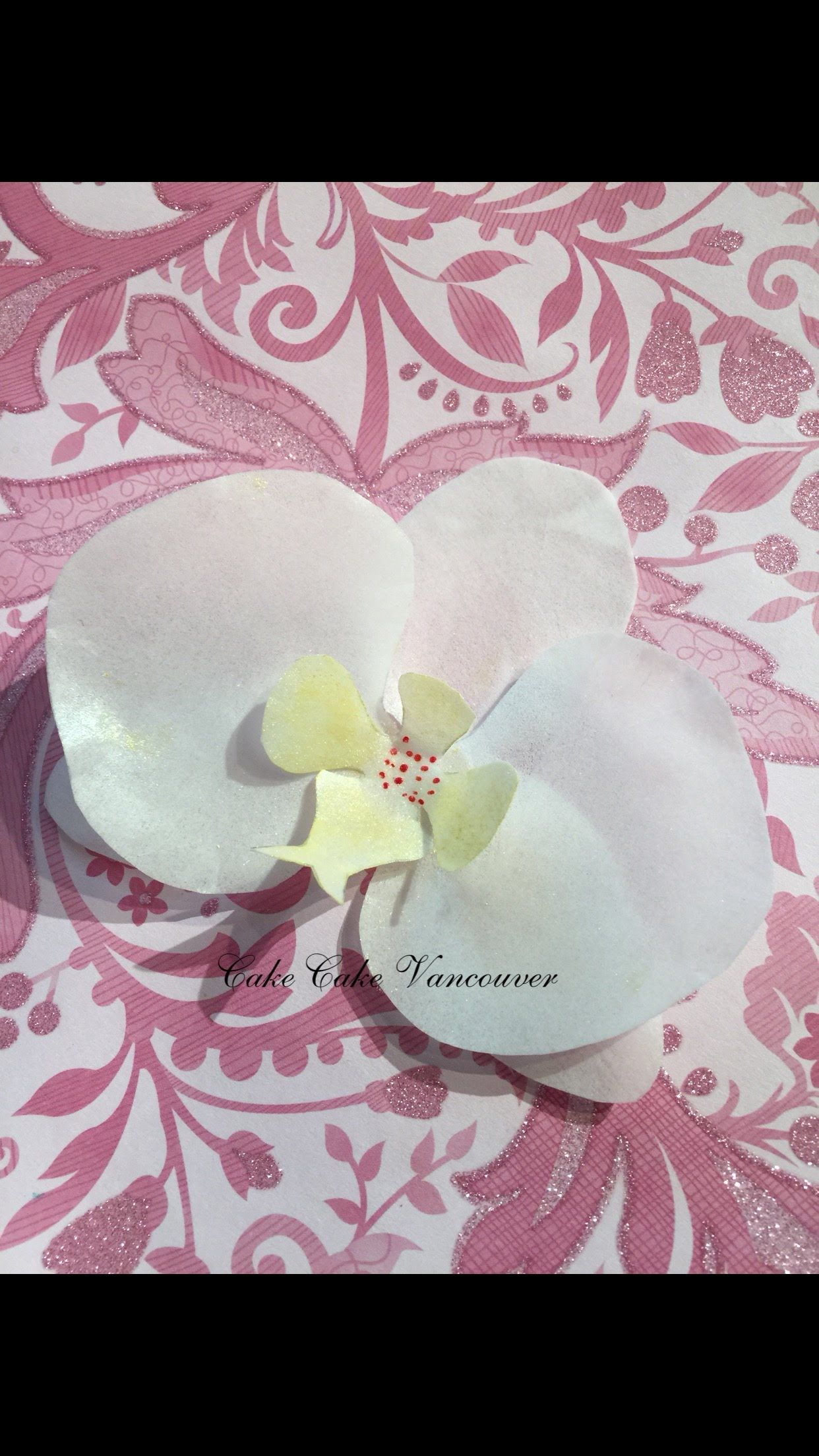 How To Make Wafer Paper Orchid Paper Flower Art Paper Flower Patterns Wafer Paper Flowers