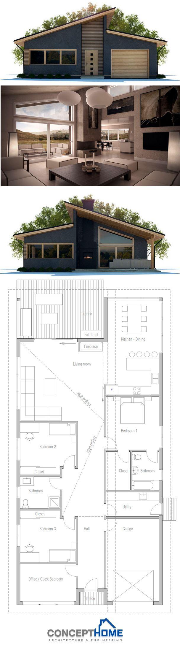 Home Plan | My Home: Facade | Pinterest | Arquitetura, Plantas Baixas E  Projetos De Casas