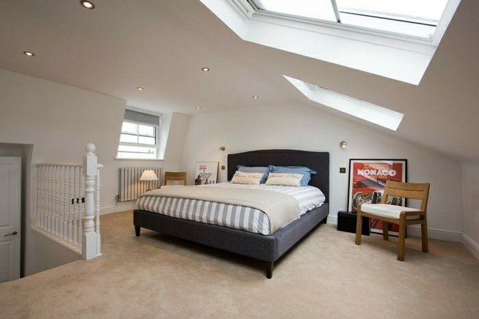 schlafzimmer dachschräge ausgefallene interieur lösungen ...