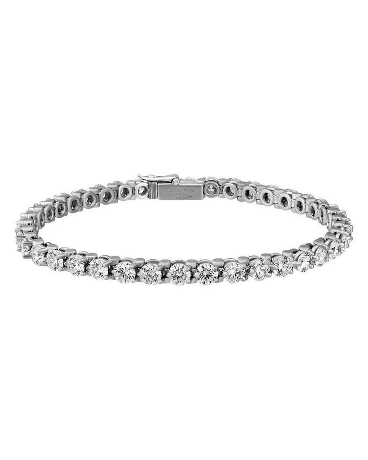 Cartier Estate Essential Lines Platinum Diamond Tennis Bracelet Cartier Diamond Bracelet Sterling Silver Bracelets Diamond