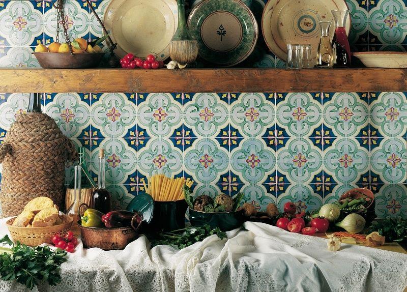 Rivestimenti cucina ceramica quadrato interni di vietri francesco de