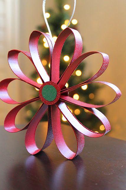 Scrapbook paper flower ornament tutorial paper crafts pinterest scrapbook paper flower ornament tutorial mightylinksfo