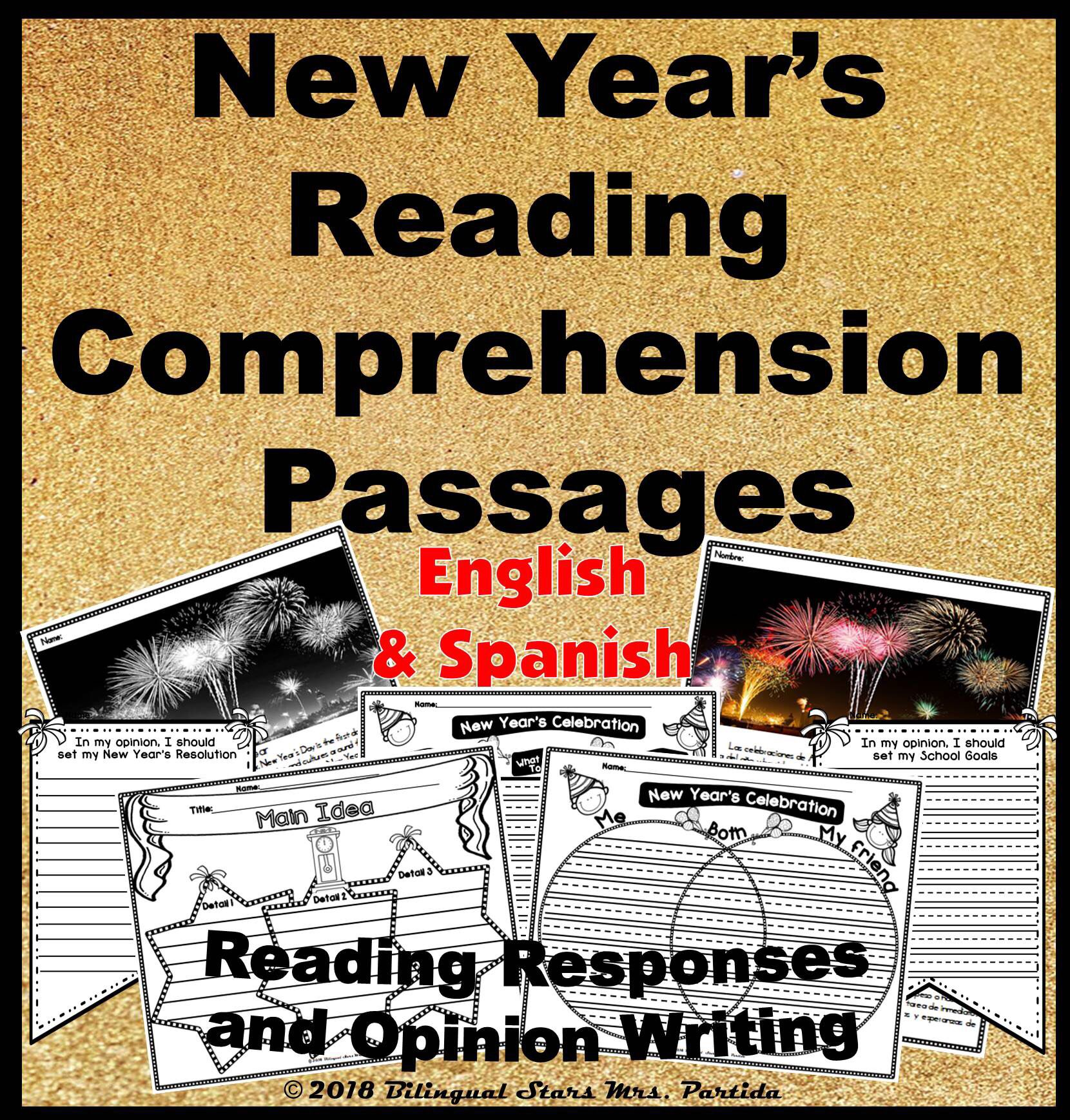 New Year's Informational Text Reading Responses