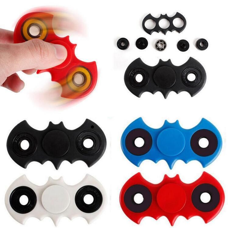 Batman Style Figit Bat Fidget Hand Spinner EDC Stocking Stuffer Toy