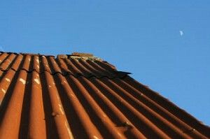 Steel roofing that has a rust finish