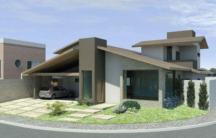 Imagenes de fachadas de casas modernas de una planta for Frentes de casas modernas de una planta