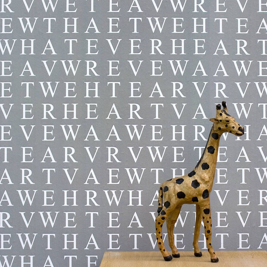 Personalized Word-Search Wallpaper, Identity Papers, www.identitypapers.com, #littlenest #pinparty