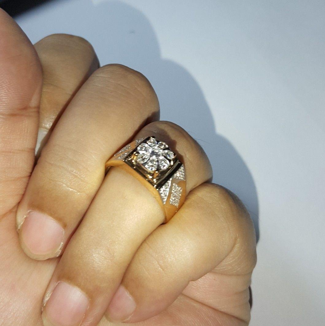 For Man Cincin emas berlian Mode Lotus Hrg cuci gudang Toko