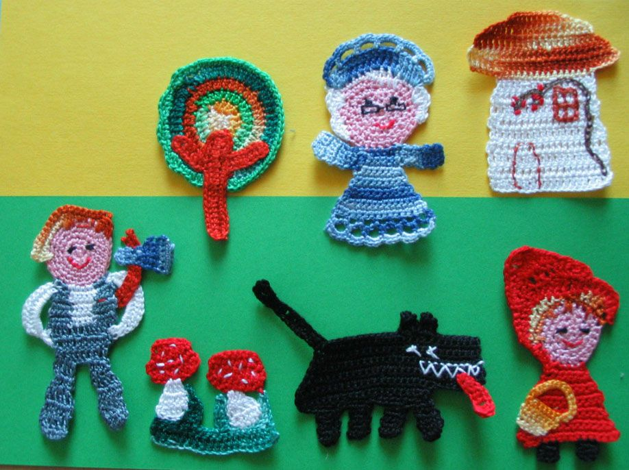 #Uncinetto Applicazioni #Crochet  #Little Red Riding Hood #Chaperon Rouge  #Rotkäppchen #Cappuccetto Rosso