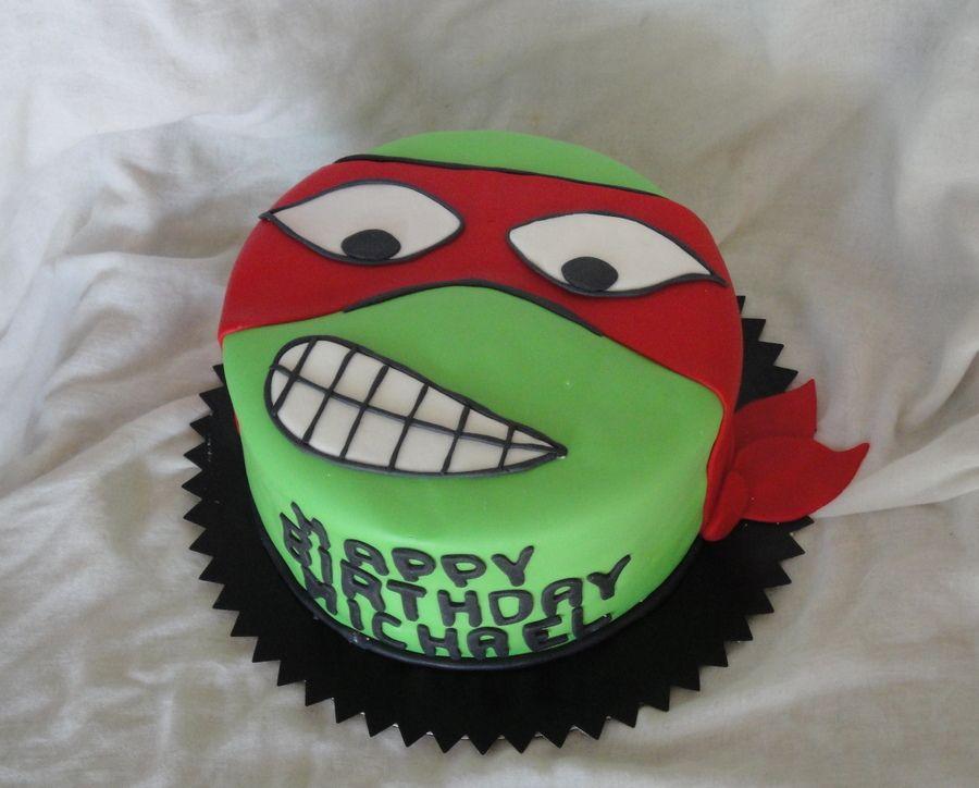 Teenage Mutant Ninja Turtle Raphael Childrens Birthday Cakes