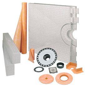 Schluter Systems Kerdi Shower Kit Stainless Steel Styrene Shower