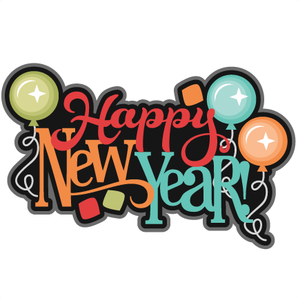 Happy New Year SVG scrapbook title new years svg cut files ...