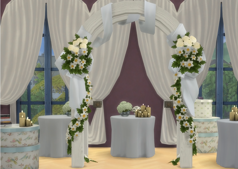 Lana cc finds wedding arch by the shed sims 4 so here for Mobilia para sims 4
