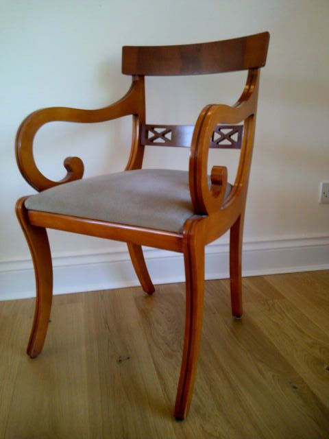 How pretty is this little armchair - I think it's yew. My ...