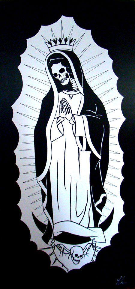 La Santa Muerte By Chad Landenberger Mary Tattoo Santa Muerte
