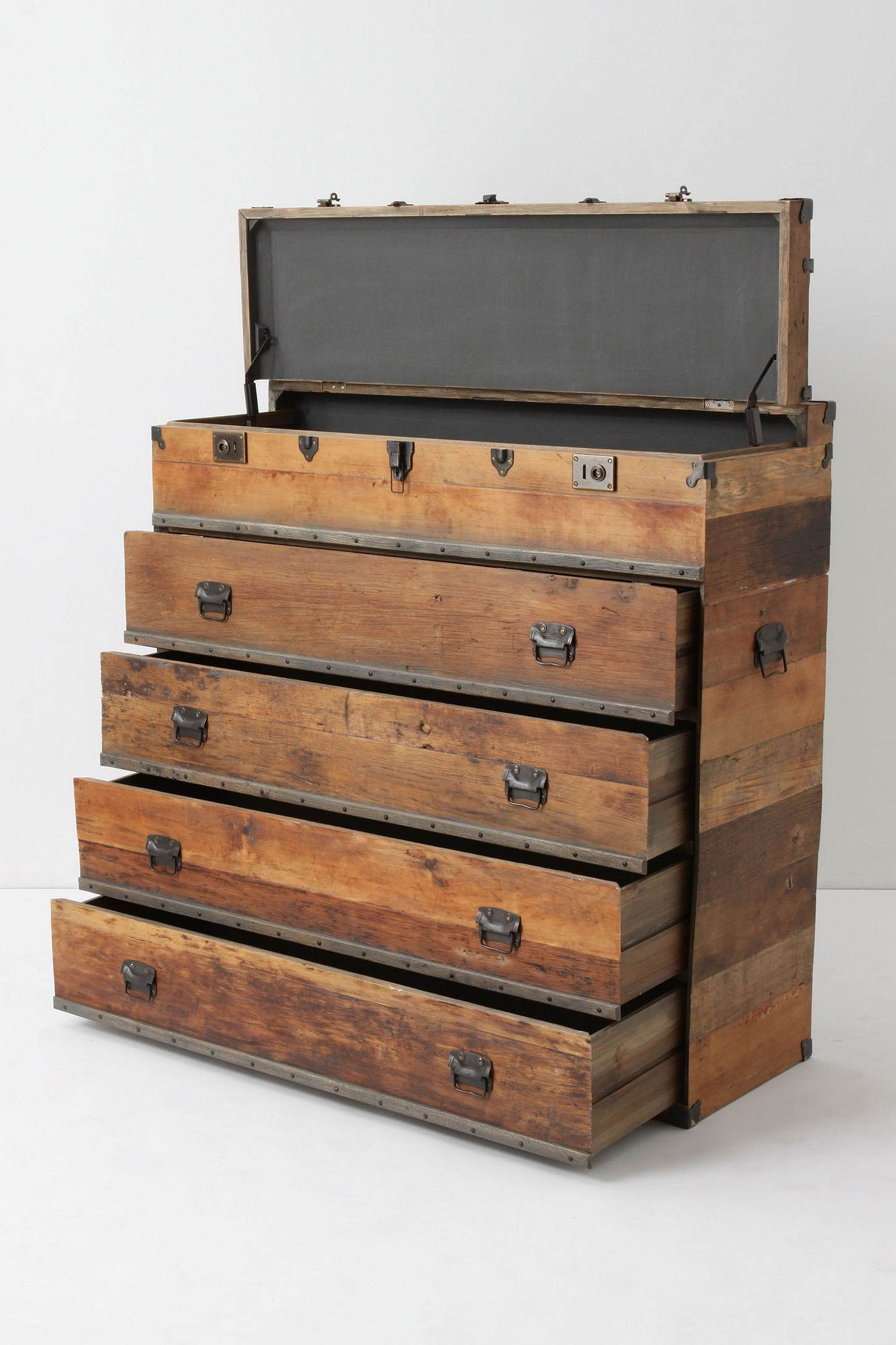 Traveler Chest | Dresser, Wooden tool boxes and Anthropologie