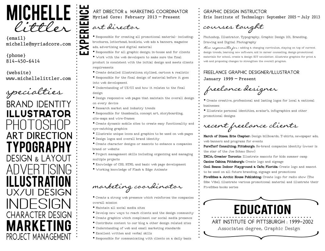 Associate Degree Resume Unique Creative Resume #graphicdesign #typography  Graphics  Pinterest .