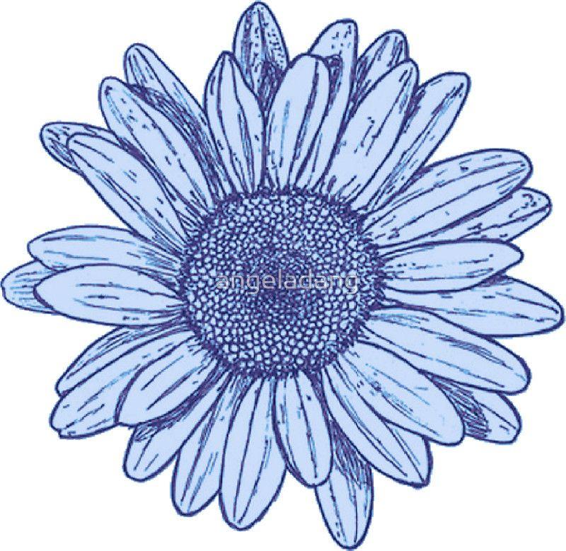 'Flower' Sticker by angeladang Daisy flower tattoos