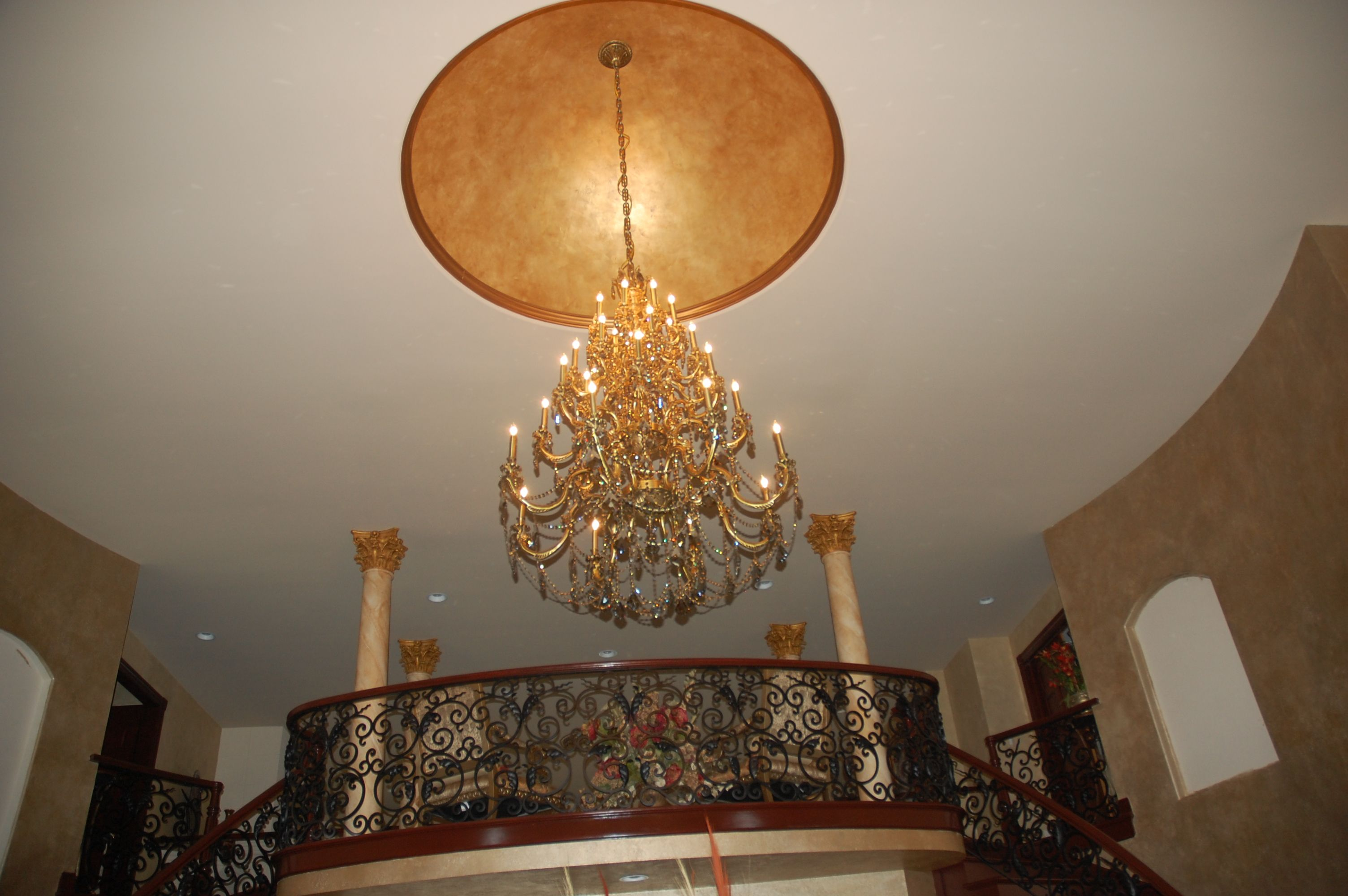 Dome Ceiling Faux Painted With Indirect Lighting In The Cove