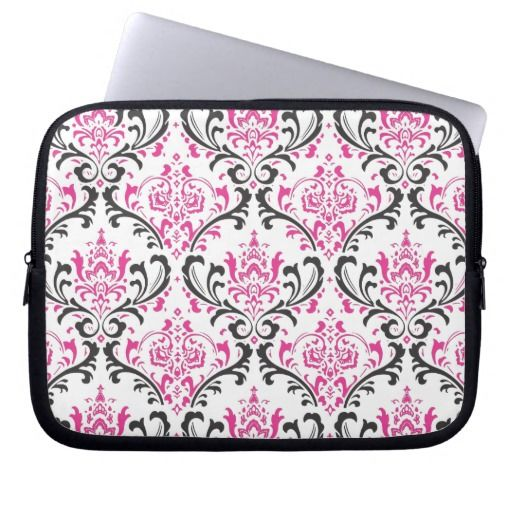PixDezines Rossi Damask/DIY background color! Laptop Computer Sleeves